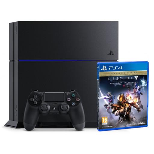 Libro: PlayStation 4 Konsole, 500GB, schwarz - inkl. Destiny: König der Besessenen für 199€