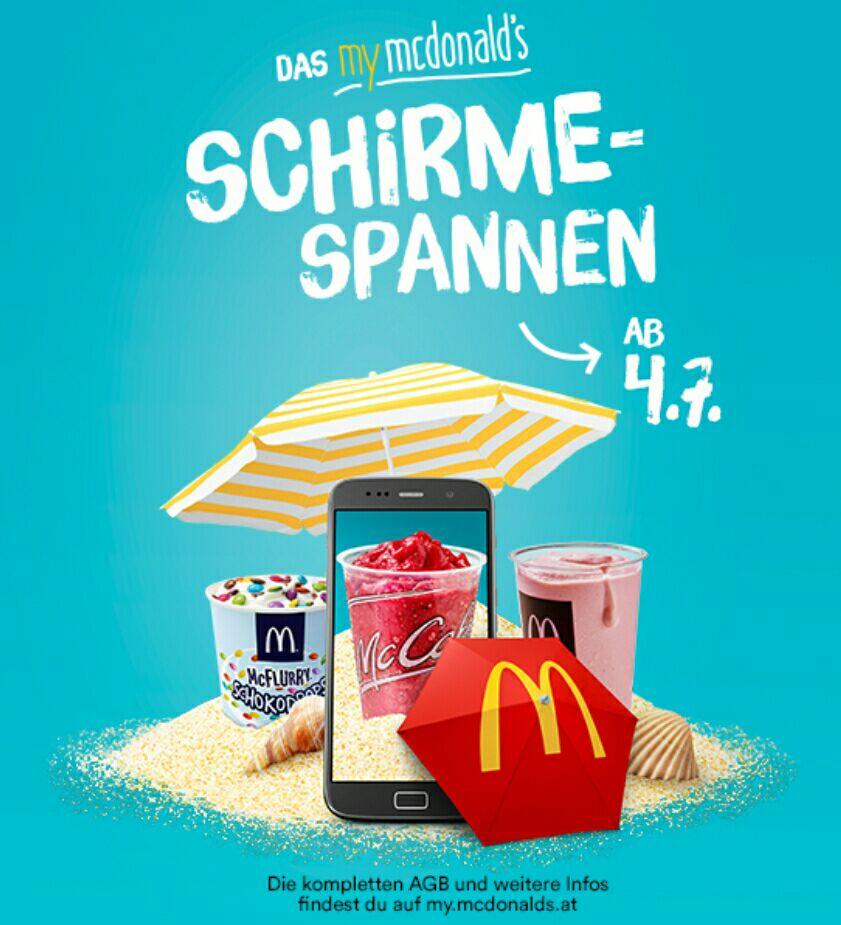 My Mcdonalds Schirme-Spannen (Gratis Produkte!) bis 30.7
