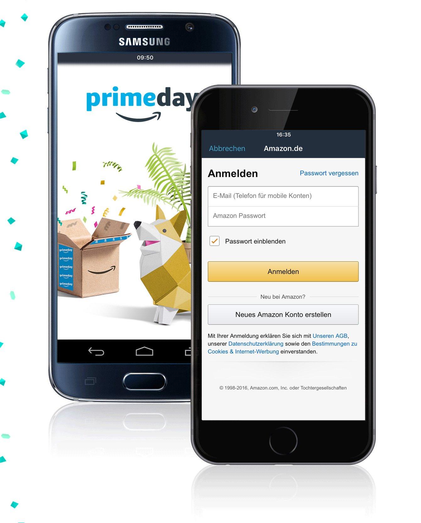Mit der Amazon App einloggen und 6 € Gutschein bekommen