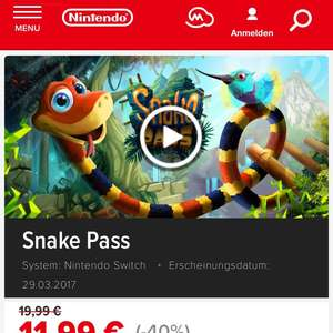 Snake Pass Nintendo Switch