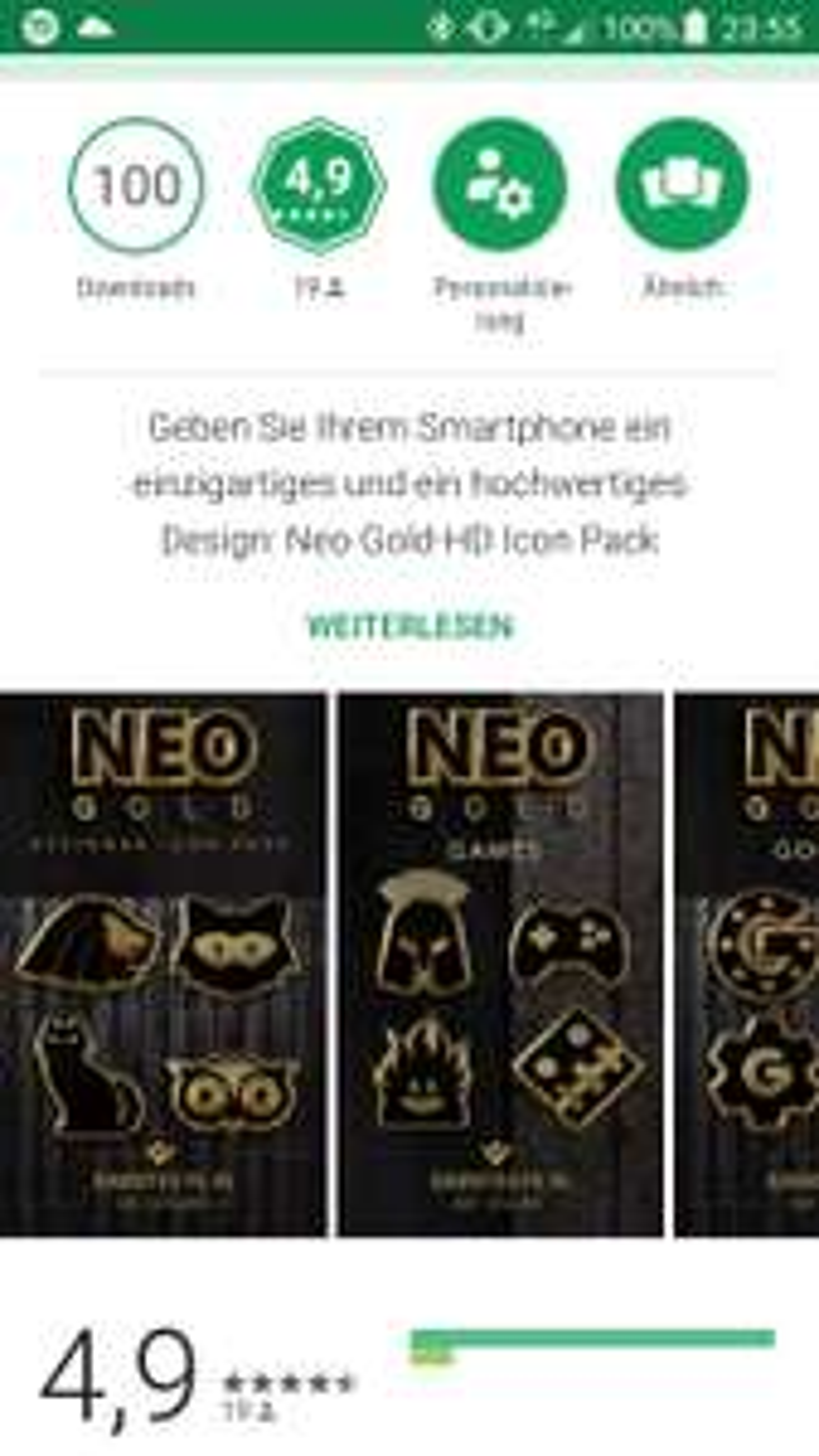 Neo Gold Icon Pack kostenlos