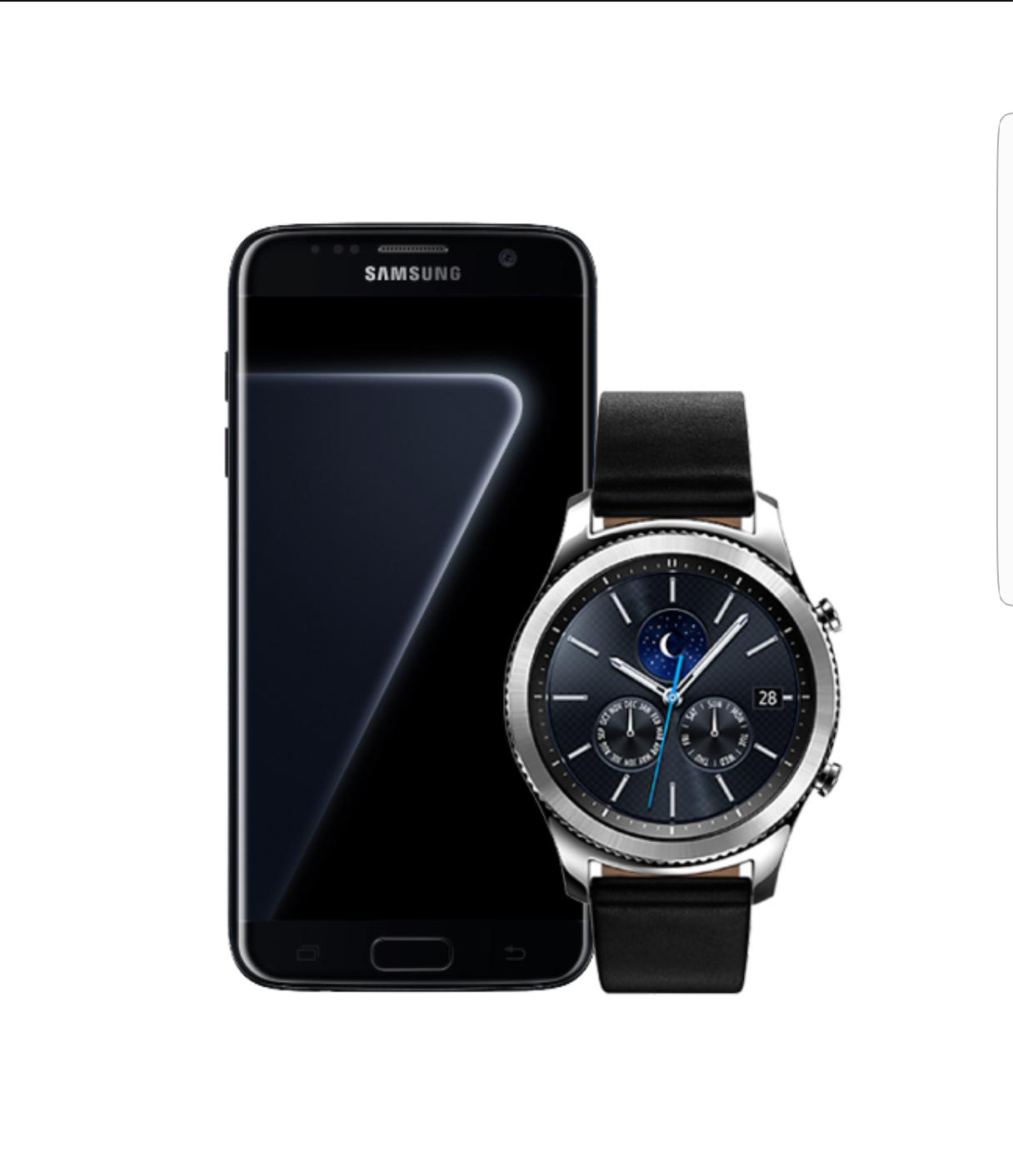 Samsung Galaxy S7 Edge  + Samsung Galaxy Gear S3 classic