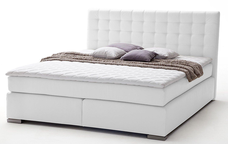 sette notti boxspringbett 160x200 cm wei kunstleder boxspringbett h3 mit. Black Bedroom Furniture Sets. Home Design Ideas
