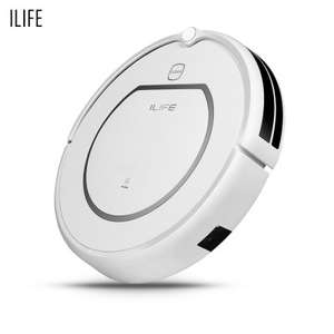 ILIFE V1 Robotic Vacuum Cleaner  -  EU PLUG  WHITE (ohne Station), LCD Voice Schedule Anti-collision System Intelligent Rout Planing