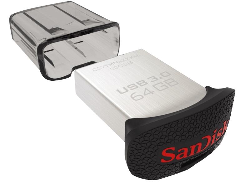 [Mediamarkt] SANDISK Ultra Fit USB 3.0 64GB (SDCZ43-064G-G46) für 17,-€ Versandkostenfrei