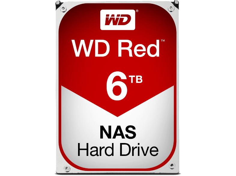 """[Mediamarkt] WD Red NAS Hard Drive WD60EFRX - Festplatte - 6TB - intern - 8,9 cm (3.5"""") - SATA 6Gb/s - Puffer: 64MB - für My Cloud EX2, EX4 (WD60EFRX) für 185,-€ Versandkostenfrei"""