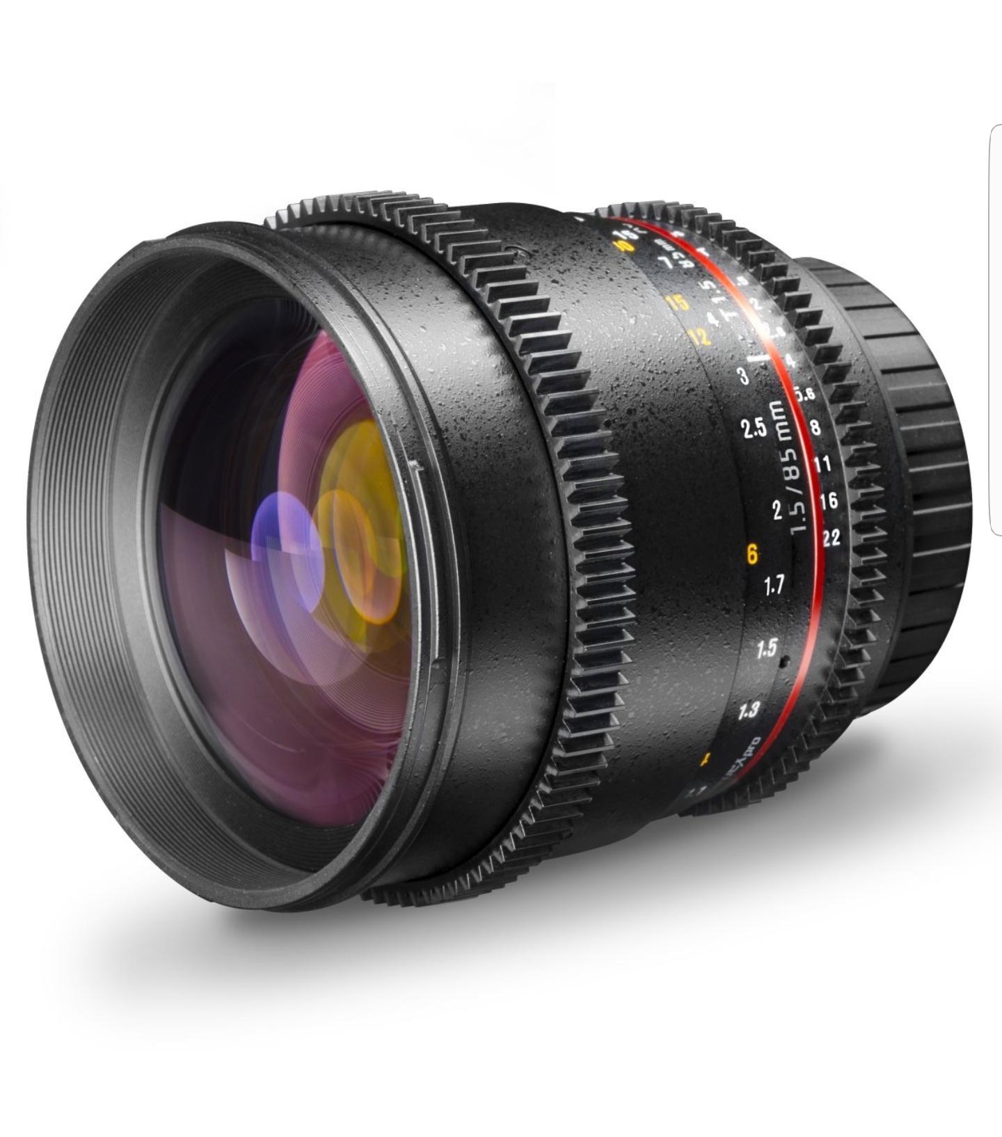 Walimex Pro 85mm 1:1,5 VDSLR Video- und Fotoobjektiv für Nikon F Objektivbajonett schwarzfür 200,68€ statt 335€