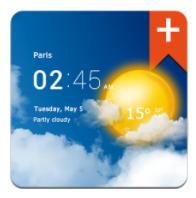 [Playstore] Transparent Clock & Wetter Pro für nur 0,10€ (statt 3€)
