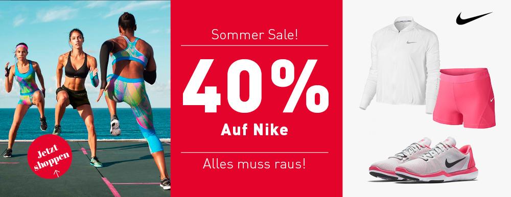 40% Rabatt auf Nike und Under Armour Artikel: ohne MBW [bei mysportswear]