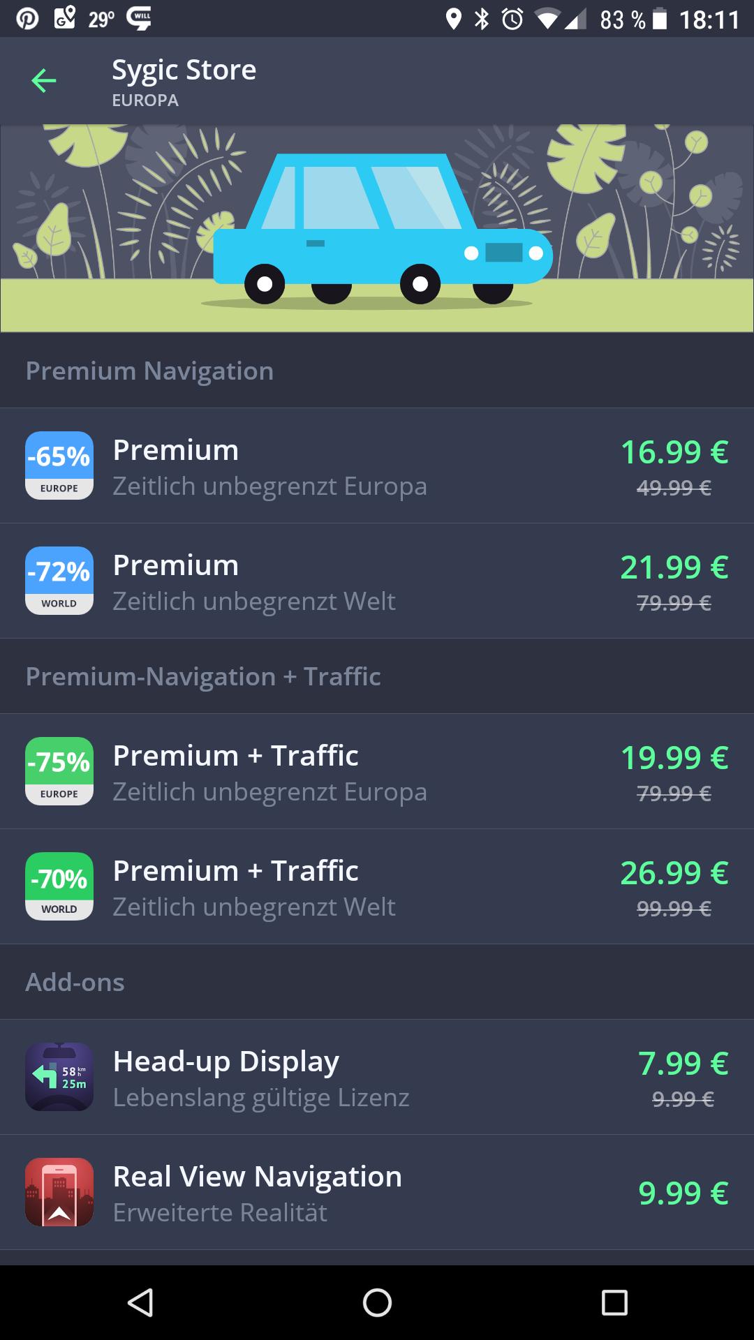 Sygic Premium Navigation bis zu -75%