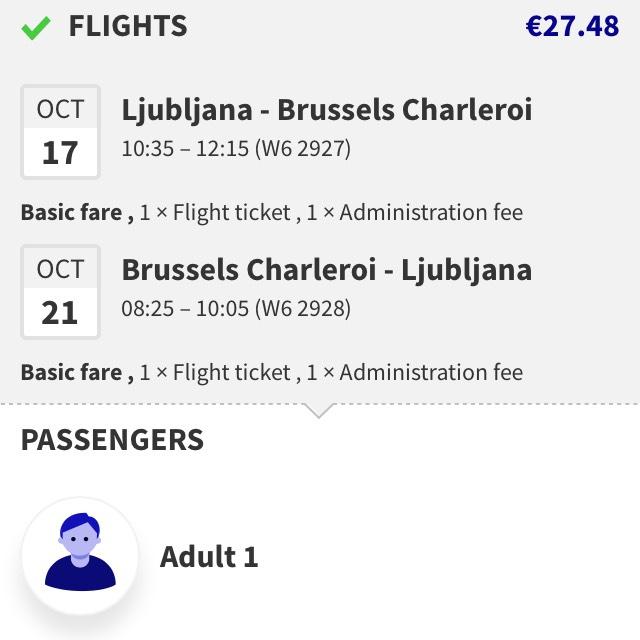 Ljubljana - Brüssel zu Flixbus Preisen