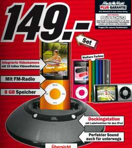 iPod Nano 8GB (5G) + Dockingstation JBL On Stage micro für 149€