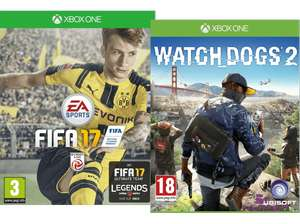 (XBox One) FIFA 17 + Watch Dogs 2 um 40 €