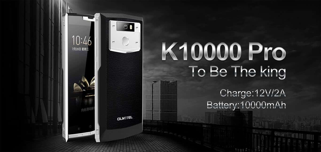 [Gearbest] Oukitel K10000 Pro mit 10.000mAh, Android 7, FHD und Band 20 für 158,41 € - 18% Ersparnis