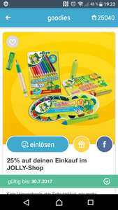 25% im JOLLY Onlineshop