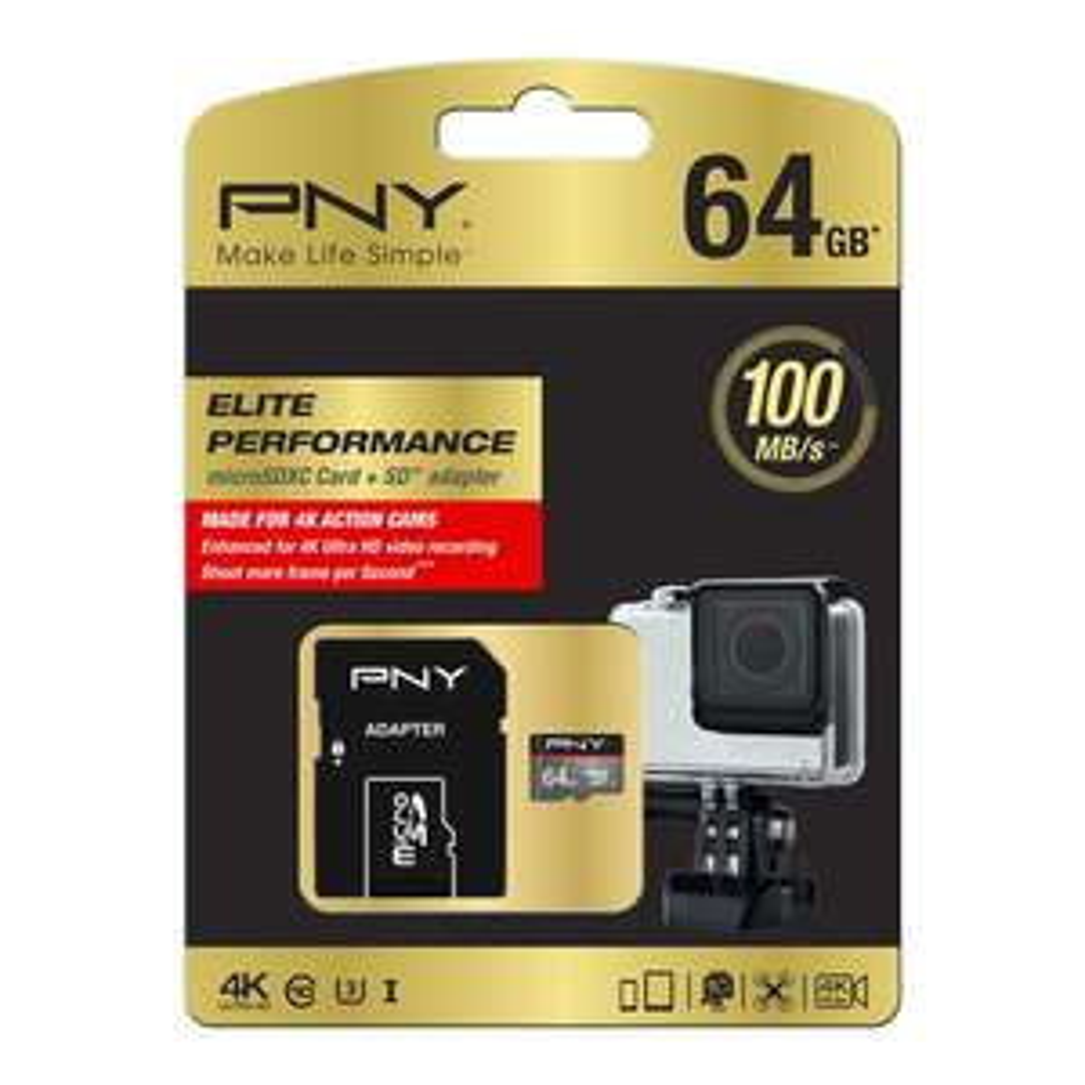 Amazon: PNY MicroSDXC Elite Performance Speicherkarte 64GB Class 10 UHS-1 U3 für 29,99€