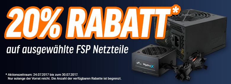 [Notebooksbilliger] 20% Rabatt auf ausgewählte FSP Fortron Netzteile