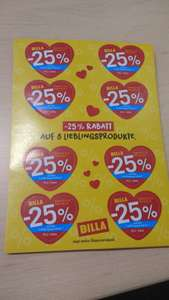 Billa -25% Rabatt-Sticker