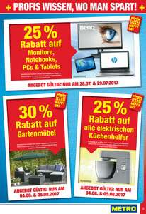 [Metro] -25% auf Monitore, Notebooks, PCs & Tablets