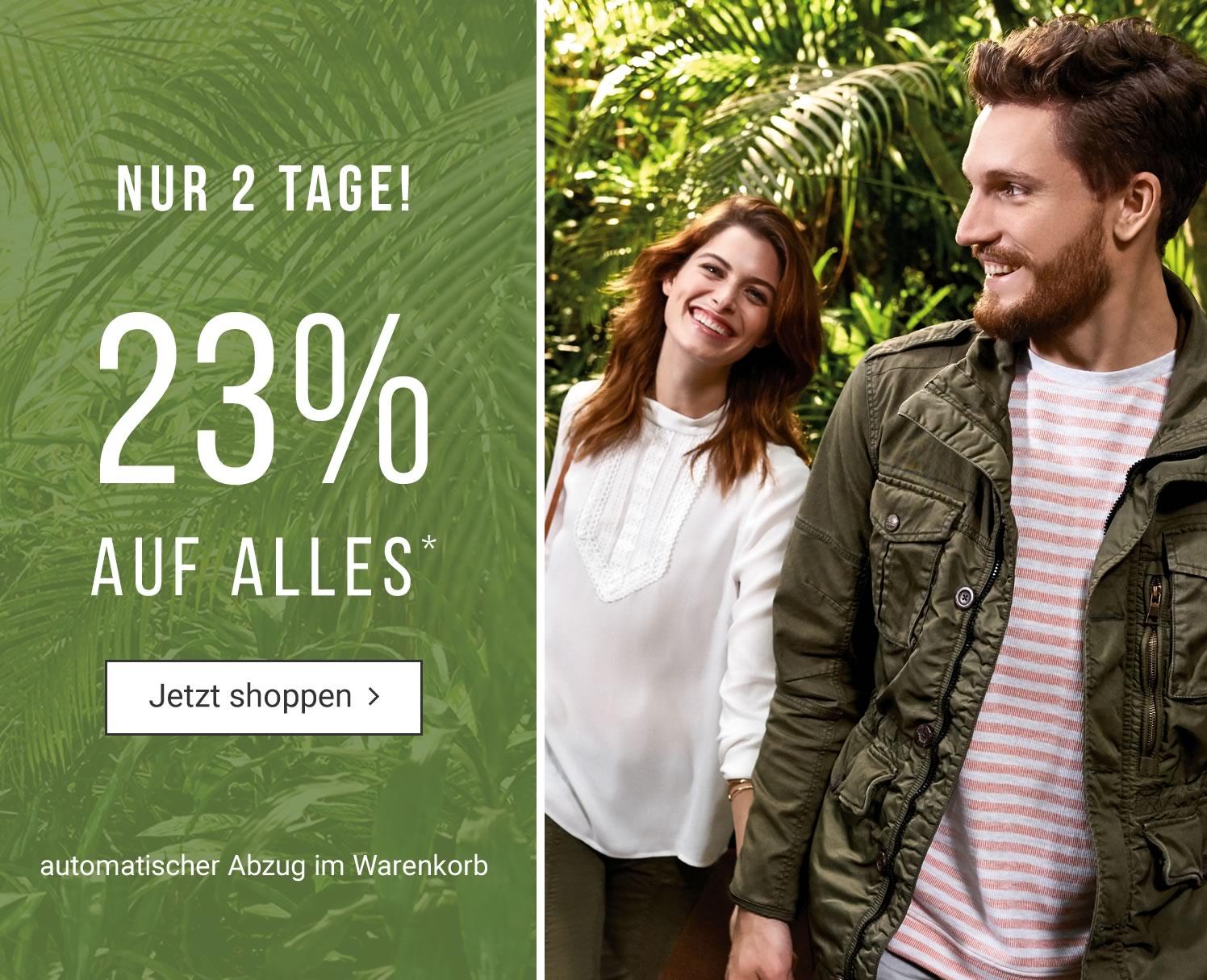 Tom Tailor: 23% Rabatt auf fast alles - nur bis zum 31. Juli