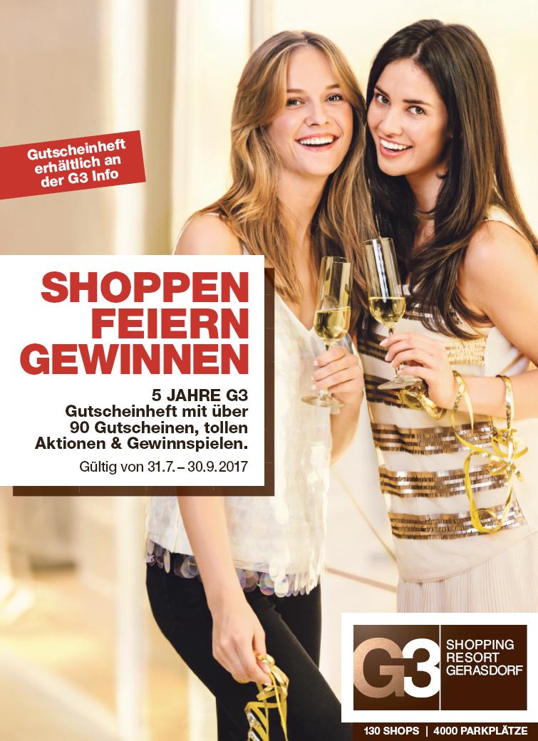 G3 Gerasdorf Gutscheinheft - 90 Gutscheine mit bis zu 50% Rabatt!