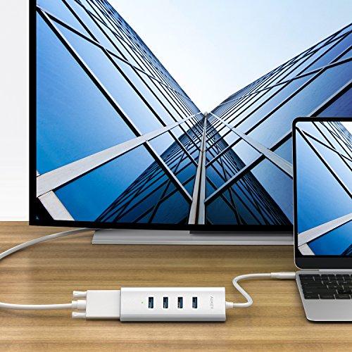 USB C auf 4x USB 3.0 & VGA HUB für 5€ Blitzangebot Amazon (Anstatt 20€)