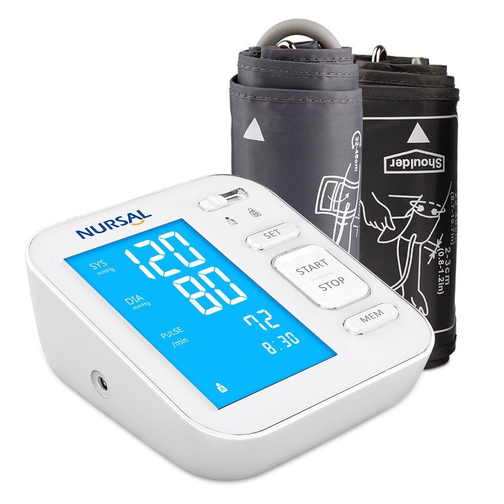 NURSAL Blutdruckmeßgerät inkl. digitalen Monitor mit Hintergrundlicht (für 2 Nutzer (2×120 Speicherplätze) für 19,99€