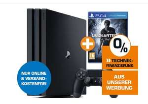 [Saturn] Sony PlayStation 4 (PS4) Pro Bundles für je 366,-€ Versandkostenfrei. Zb. inc.Uncharted 4 oder Tom Clancy's: Ghost Recon Wildlands Gold Edition etc.