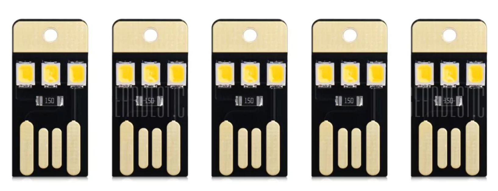 [GearBest] 5 sehr kleine USB LED Lichter für 0,85€