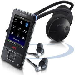 [MP3-Player] Sony NWZ-A829 16GB + Bluetooth Headset für 226€