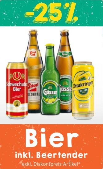 Merkur: Minus 25 % auf Bier inkl. Beertender mit Friends Karte
