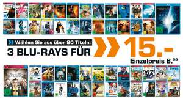 [Saturn Online] 3 Blu-Rays für 15€