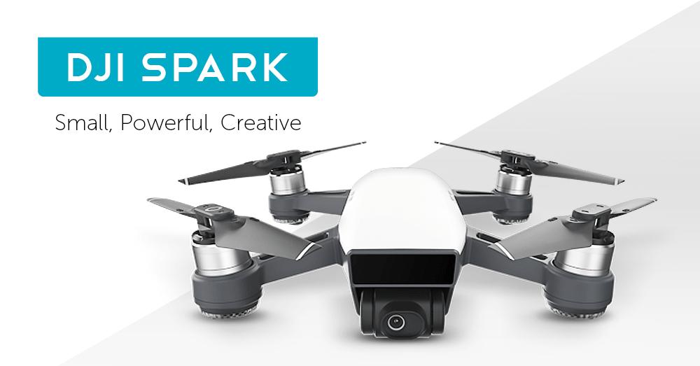 [Gearbest] DJI Spark Mini RC Selfie Drohne für 337,55 € statt 504,35 €