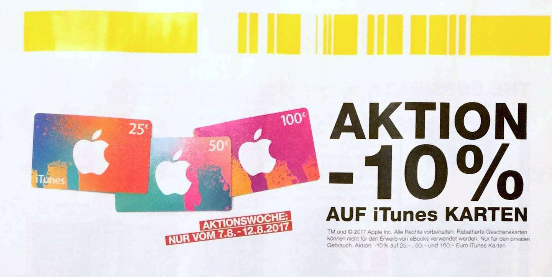 [Post] 10% Rabatt auf iTunes Karten 25 EUR, 50 EUR und 100 EUR