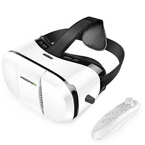 VR Brille mit Controller - Pasonomi Virtual Reality Brille mit Bluetooth Fernbedienung für 5,99€