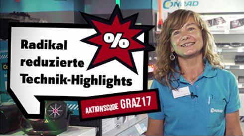 Conrad Megastore Graz: 10€ Rabatt ab einem Einkaufswert von 55€