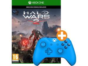 Saturn: Halo Wars 2 (Xbox One) + Microsoft Xbox One Wireless Controller in blau für 55€