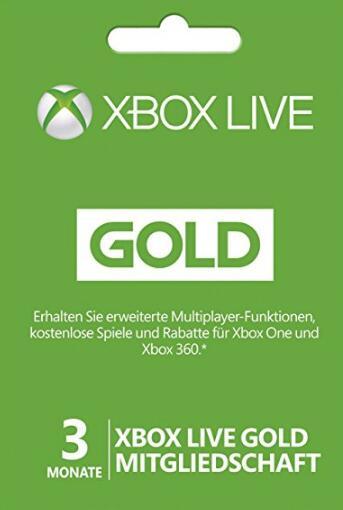 Xbox live 3 Month Gold Membership für 13,99€