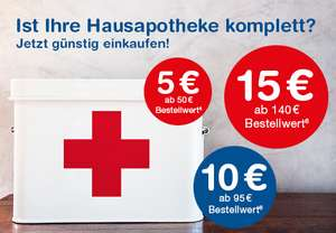 [shop-apotheke] Gestaffelte Rabatte EUR 5, 10 und 15 EUR bis 13.8.2017