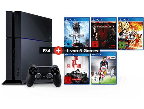 Gamestop: PS4 500 GB gebraucht + 1 Spiel für € 189,99