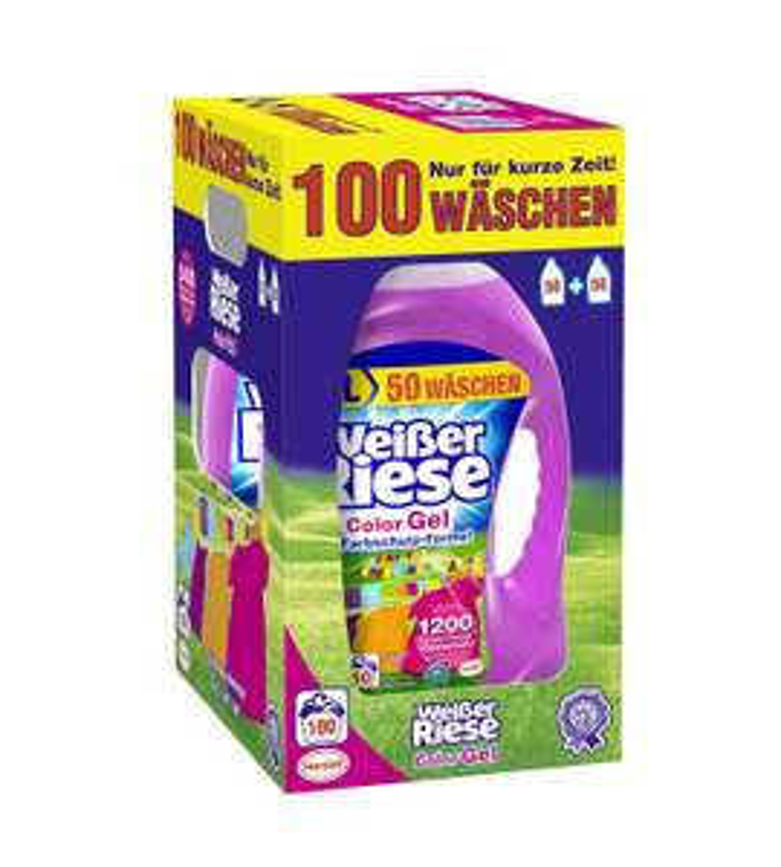 Amazon Prime Weißer Riese Universal Gel Waschmittel, 1er Pack (1 x 100 Waschladungen) Sparabo 11,39 Euro