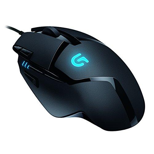 Logitech G402 Hyperion Fury FPS Gaming Mouse (mit 8 programmierbaren Tasten, USB) für 35€