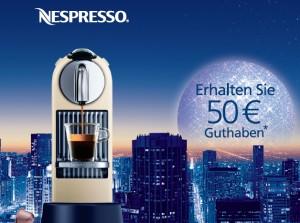 Wieder eine 50€-Cashback Aktion von Nespresso