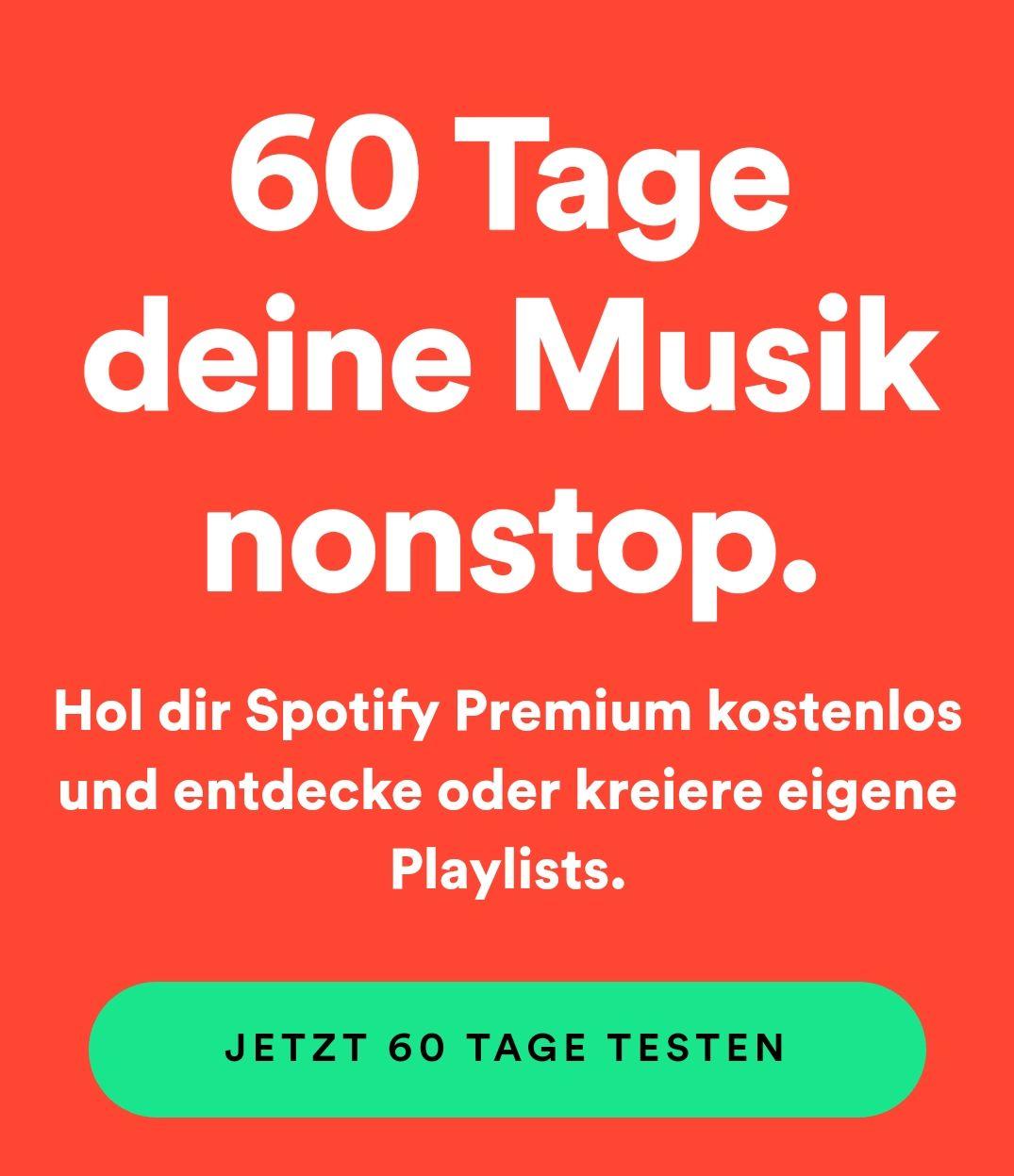 60 Tage Spotify Premium kostenlos für Neukunden
