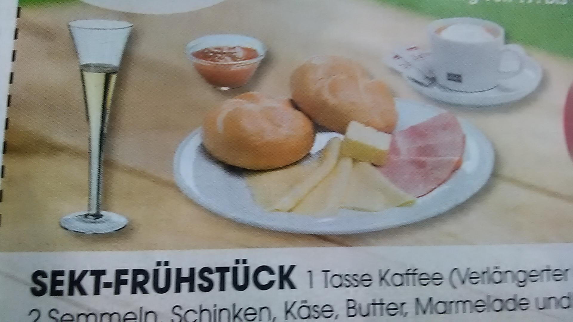 Sekt-Frühstück € 2,90 | 18 x in Österreich