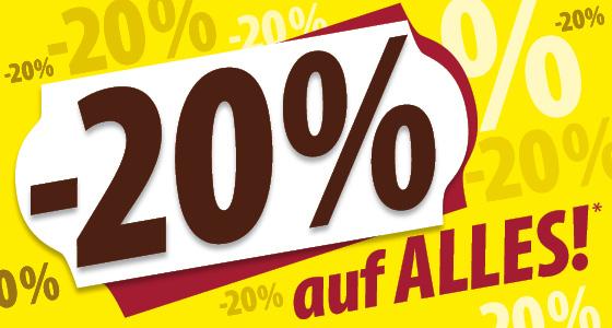 [Heindl] -20% auf Alles in den Filialen nur vom 17.8.-20.8.2017