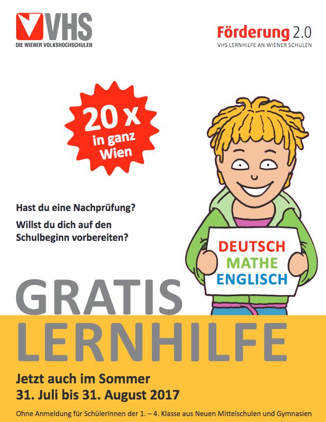 GRATIS Nachhilfe für Schüler der Unterstufe - bis 31.8.2017