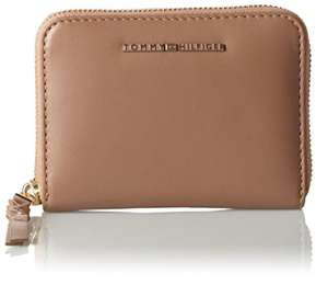 Tommy Hilfiger Damen Leather Twist Compact Wallet Geldbörse, 3x10x13 cm