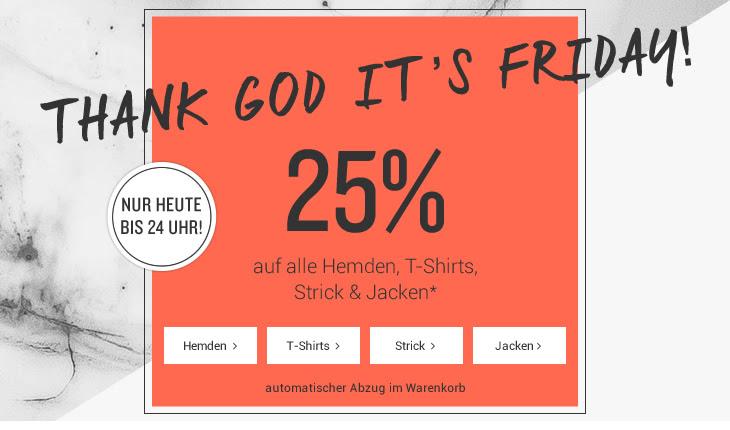 Tom Tailor: 25% Rabatt auf alle Hemden, T-Shirts, Strick & Jacken - nur heute!
