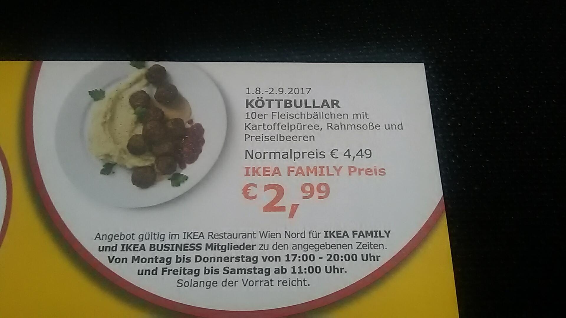 Köttbullar 2,99 bis 2.9 | Ikea Wien Nord